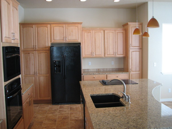 This Crestwood Kitchen Features A Whitewash Finish With Granite Countertops